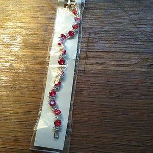 Women's Ruby Stone Tennis Bracelet